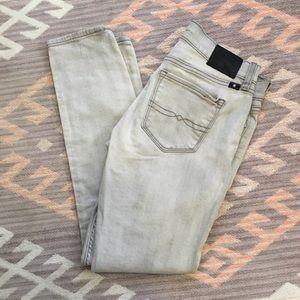 Lucky Brand • Charlie Skinny Jeans in Light Gray